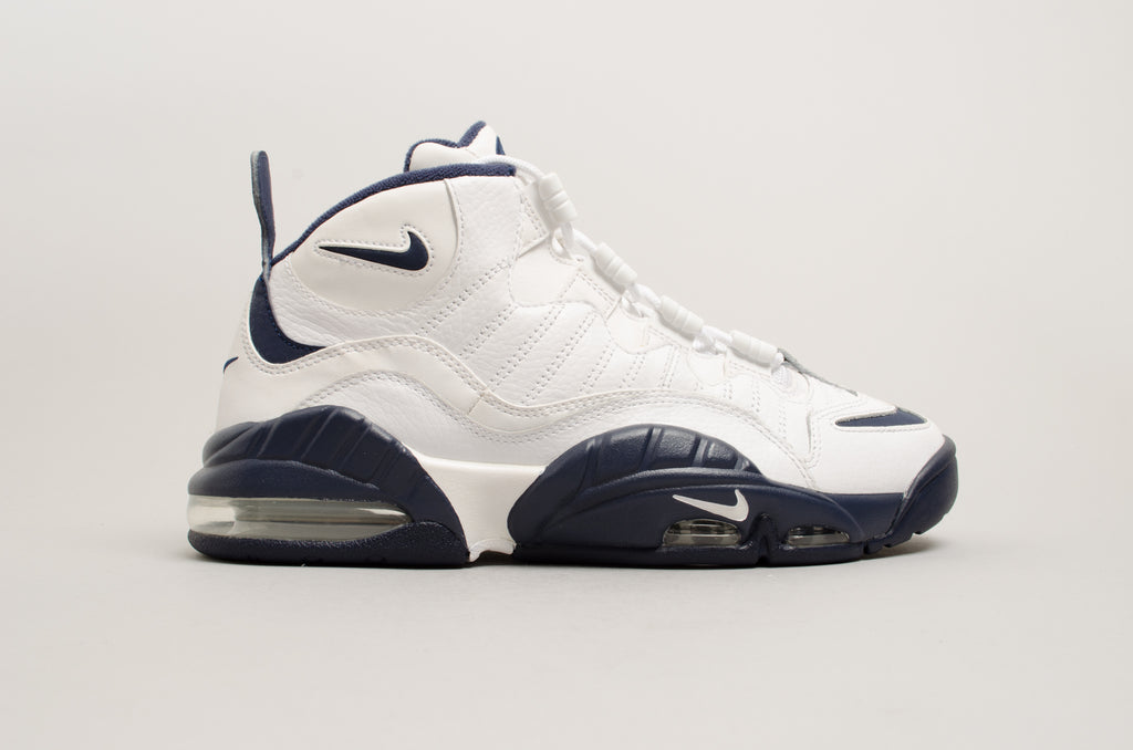 ed6c54b158bec6 Nike Air Max Sensation CW Chris Webber White Navy Blue 805897-100 ...