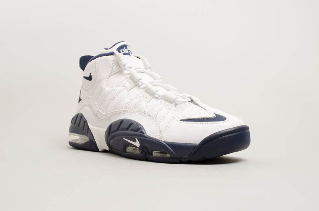 c198217e261e18 ... Nike Air Max Sensation CW Chris Webber White Navy Blue 805897-100 ...
