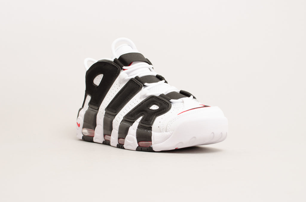 Nike Air More Uptempo ( White / Black / Red ) 414962-105