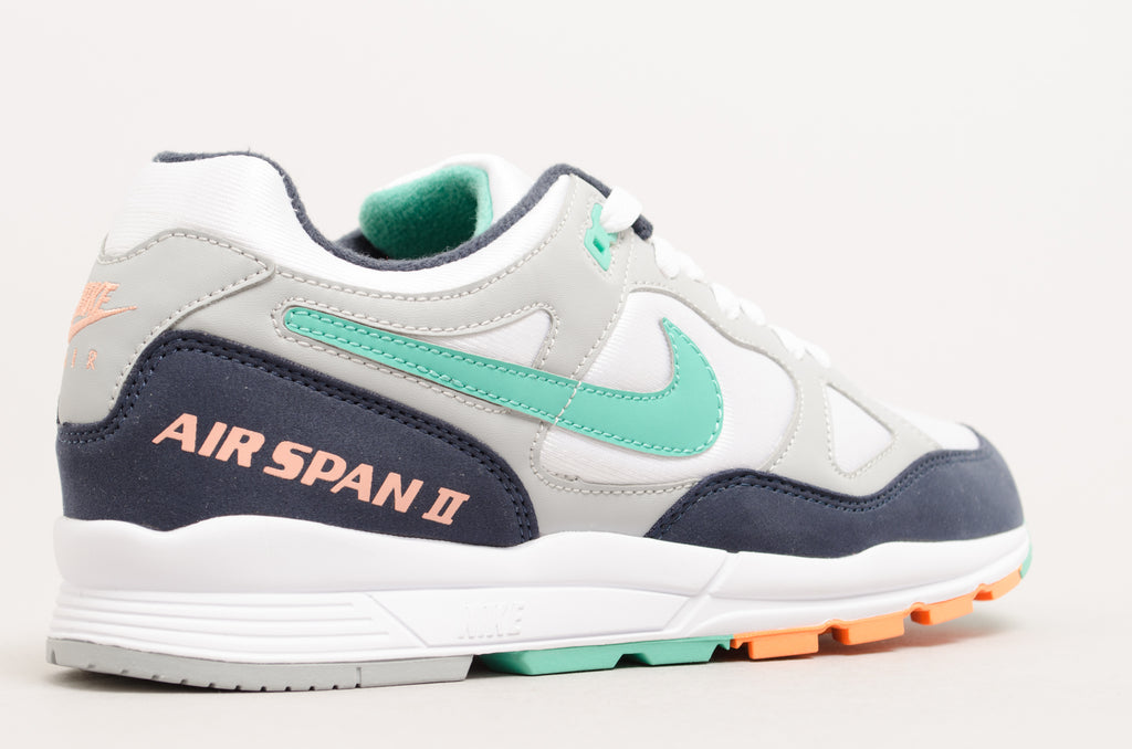 Nike Air Span II ( Wolf Grey / Kinetic Green - Obsidian ) AH6800-003