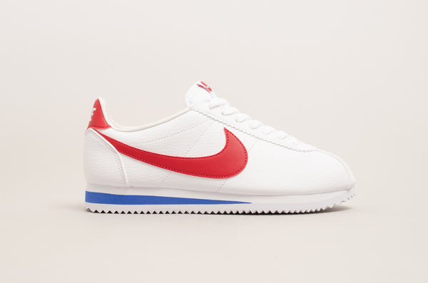 Nike Classic Cortez Leather ( White / Red / Blue ) 749571-154
