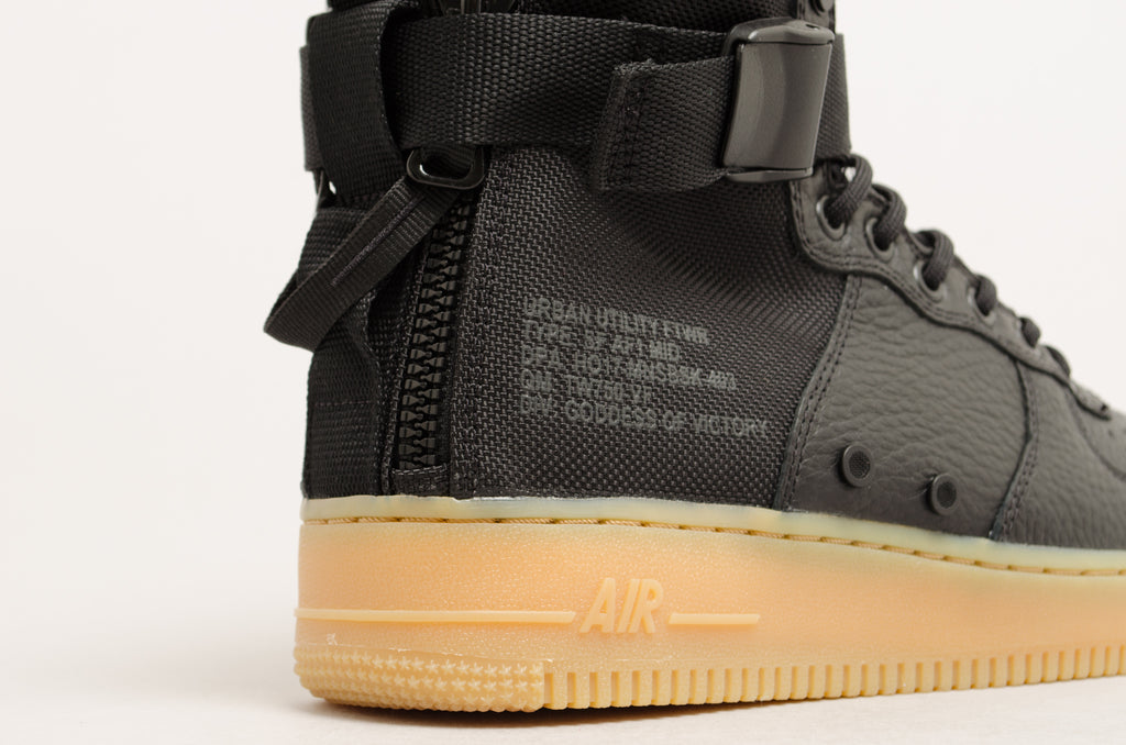Nike Special Force Air Force 1 Mid Black/Gum 917753-003
