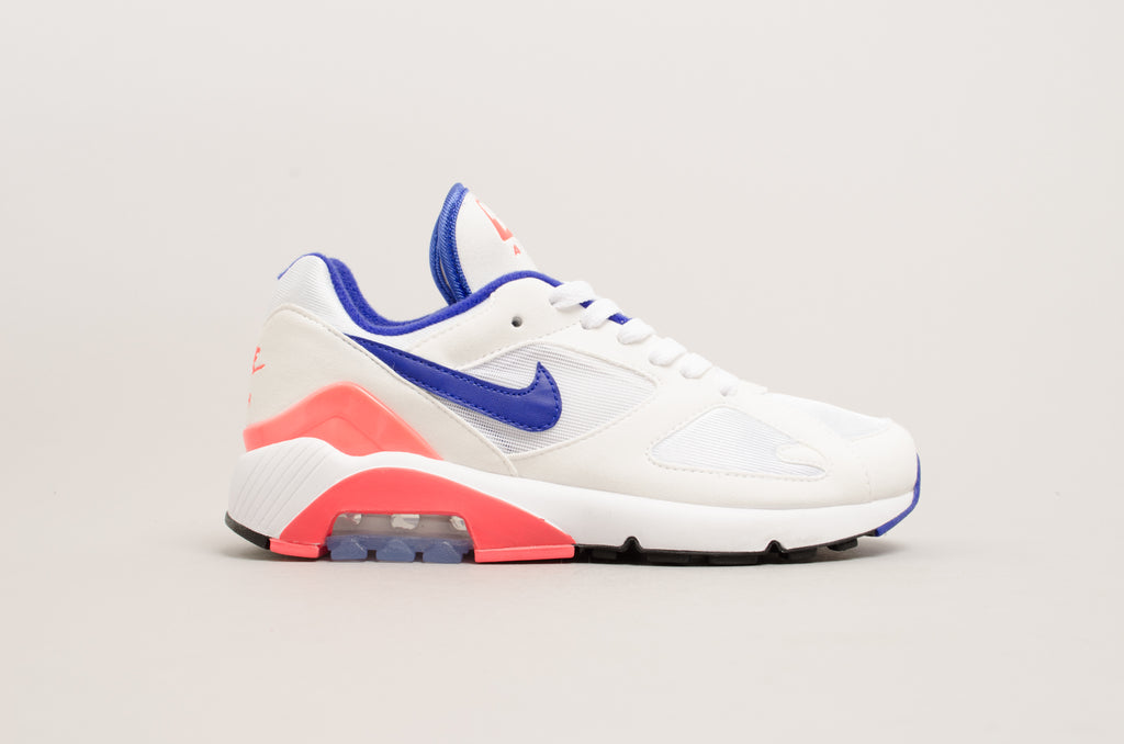 Nike Women's Air Max 180 White/Ultramarine-Solar Red AH6786-100
