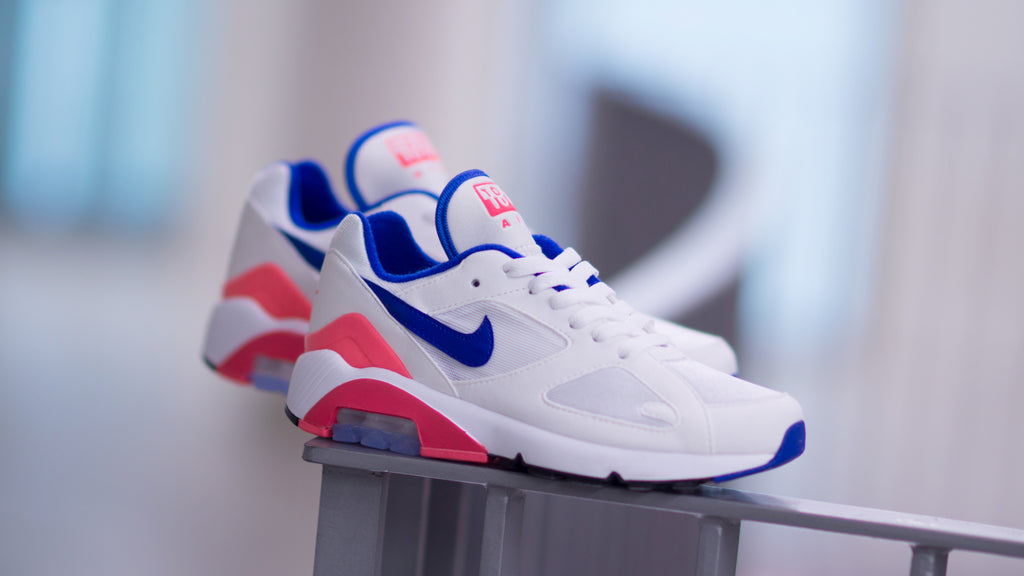 bd799f9997 ... Nike Women's Air Max 180 White/Ultramarine-Solar Red AH6786-100