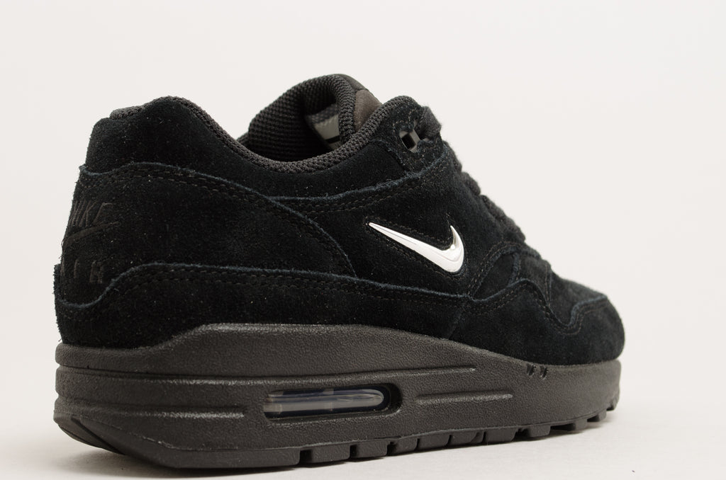 "Nike Women's Air Max 1 Premium SC ""Midnight Diamond"" ""Jewel"" ""Mini Swoosh"" Black AA0512-001"