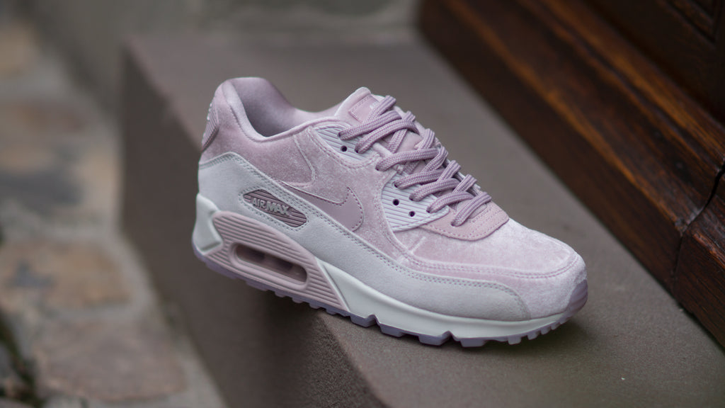 low priced 7d50e c0fd9 ... Nike Womens Air Max 90 Luxe Velvet Particle Rose 898512-600
