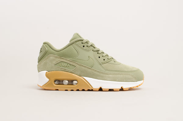 Nike Women's Air Max 90 Special Edition Olive Green/White/Gum 881105-300