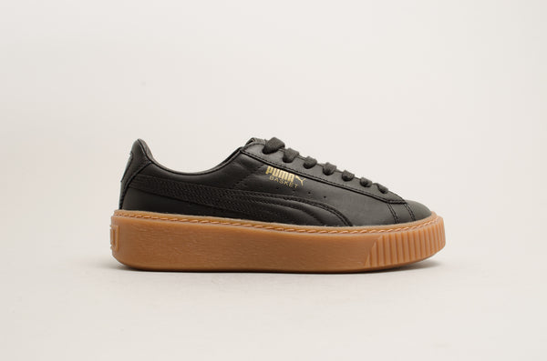 Puma Basket Platform Core Black Gum 364040-02