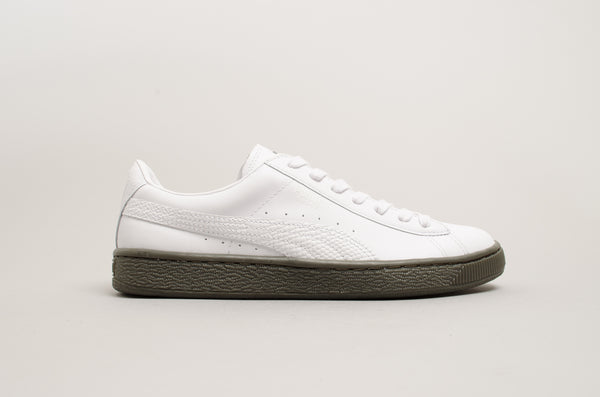 Puma Basket RT White Olive 365616-01