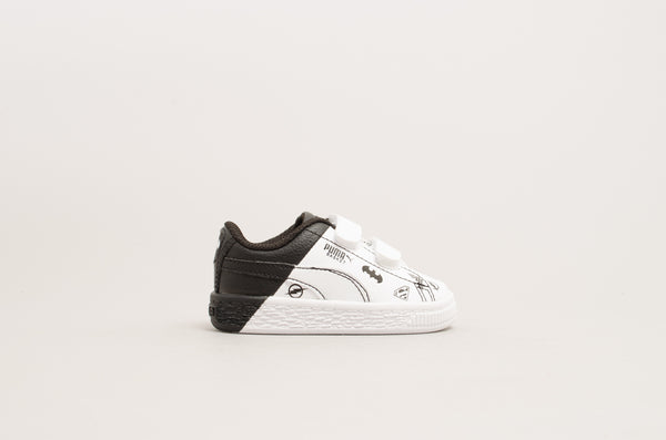 Puma Justice League Basket V Infant White/Black 365149-01