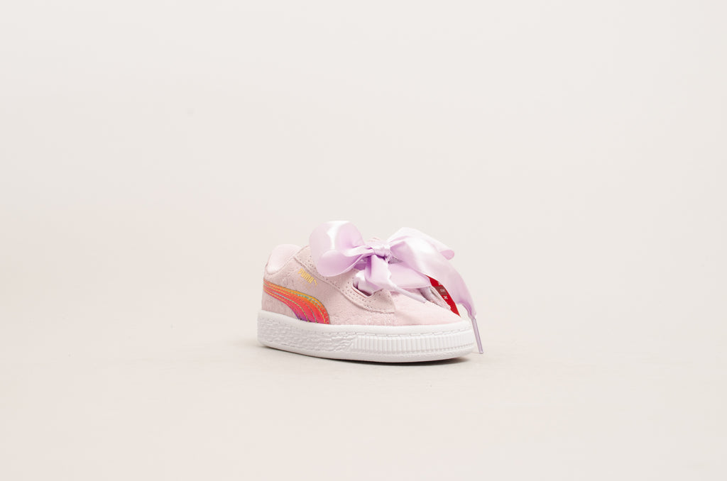 Puma Minions Suede Heart Fluffy Infant ( Pink ) 366646-01