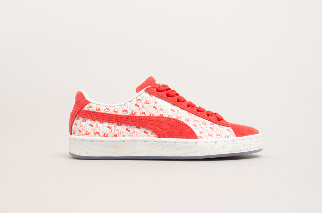 4e2612afd6d1 Puma Suede Classic x Hello Kitty Bright Red 366306-01 ...