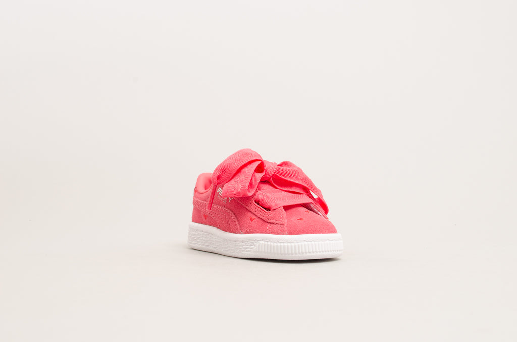 Puma Suede Heart Valentine Infants Pink/White 365137-01