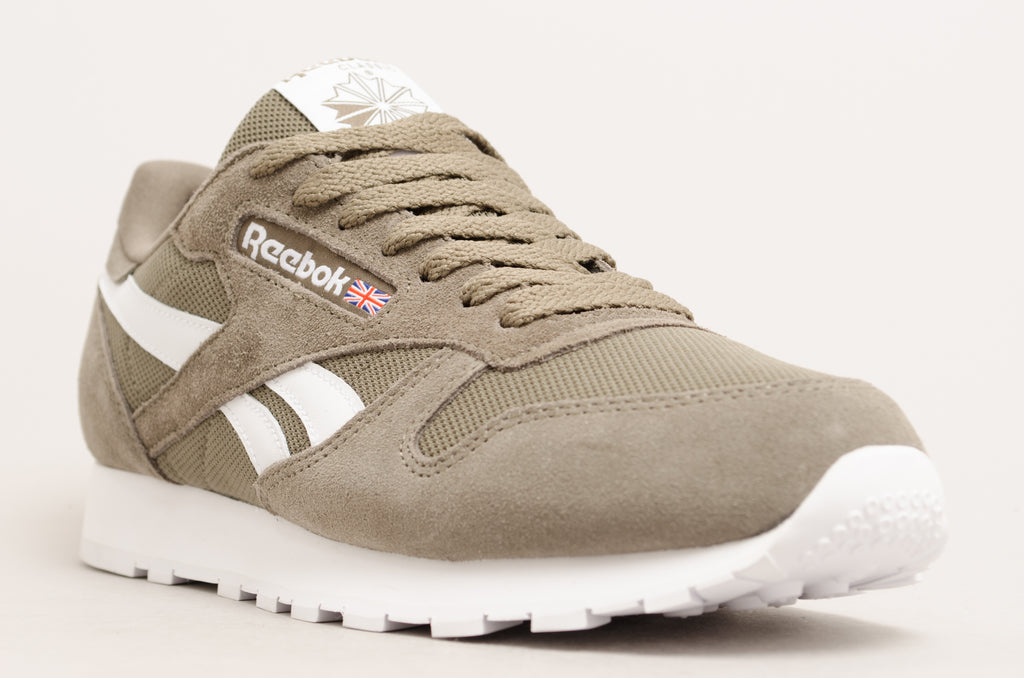 Reebok Classic Leather ( Green Terrain Grey / White ) CN5018
