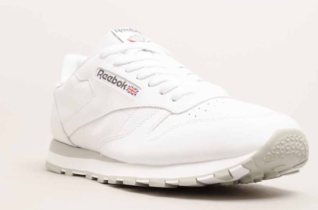 Reebok Classic Leather ( White / Light Grey ) 2214