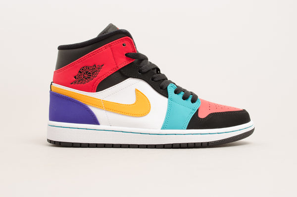 Sevensneakerstore.com Air Jordan 1 Mid Multicolor ( White / Red / Black / Green ) 554724-125
