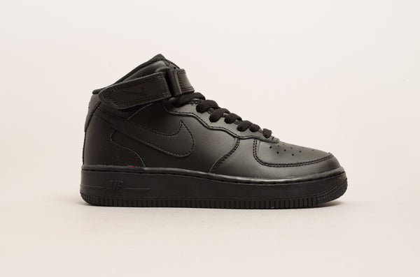 Sevensneakerstore.com Nike Air Force 1 Mid ( GS ) Black / Black 314195-004