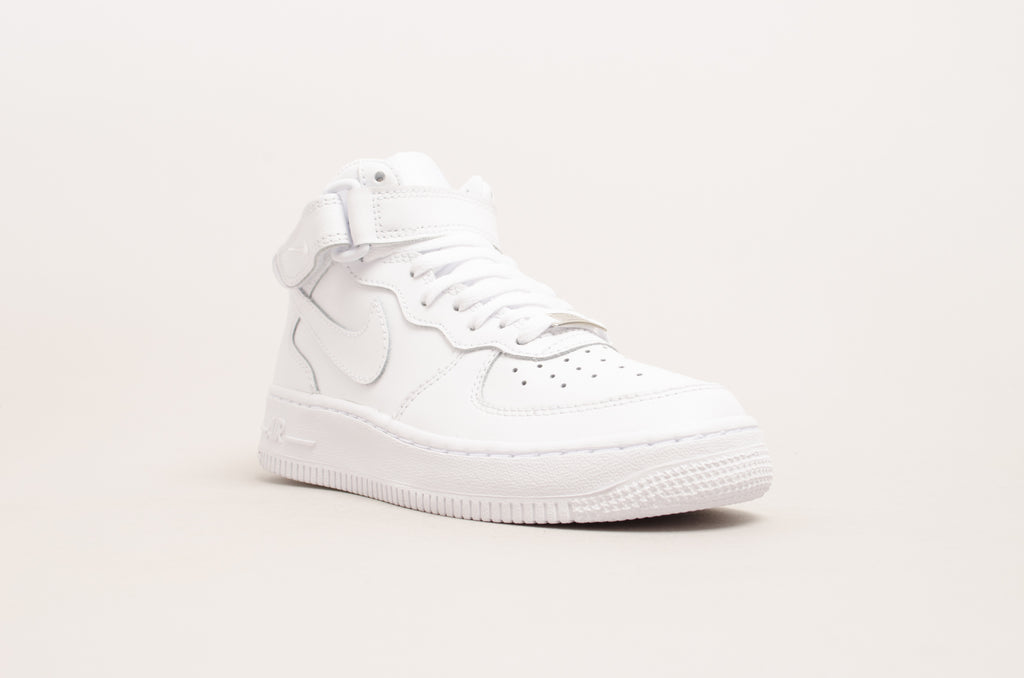 75f2f78910b ... Sevensneakerstore.com Nike Air Force 1 Mid ( GS ) White   White 314195-  ...