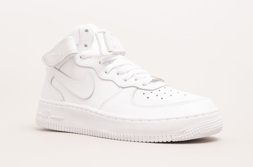 Sevensneakerstore.com Nike Air Force 1 Mid ( GS ) White / White 314195-113