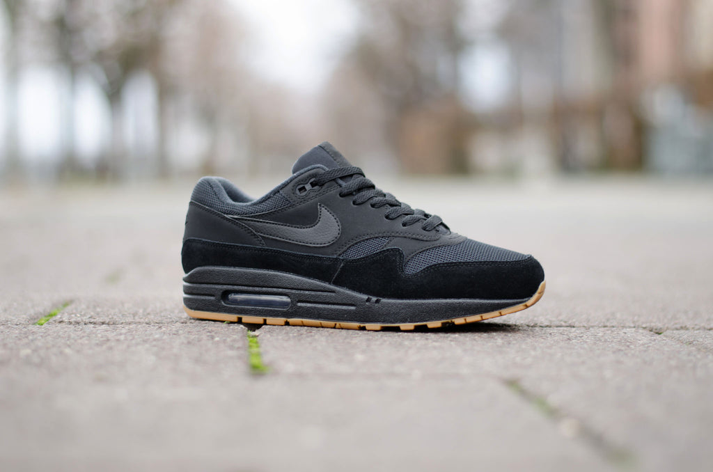 new york 092c7 33f7d ... Sevensneakerstore.com Nike Air Max 1 ( Black   Black   Gum Brown )  AH8145