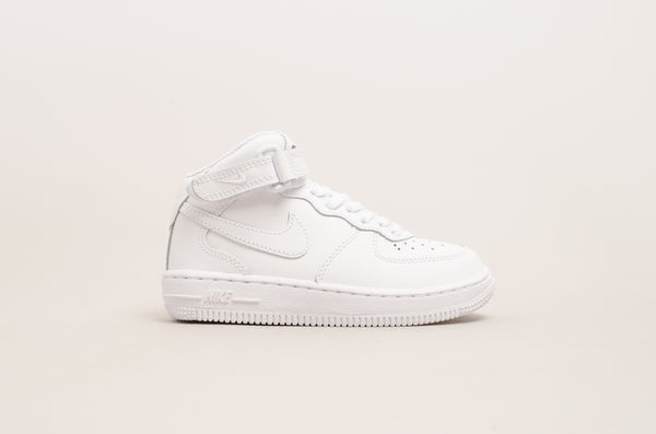 Sevensneakerstore.com Nike Force 1 Mid ( PS ) White / White 314196-113