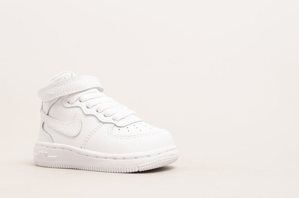 Sevensneakerstore.com Nike Force 1 Mid ( TD ) White / White 314197-113