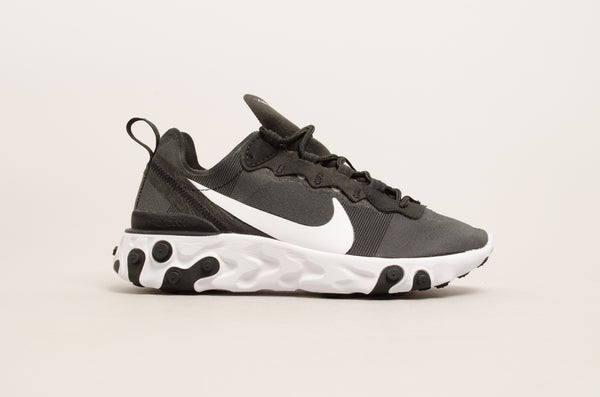 Sevensneakerstore.com Nike Women's React Element 55 ( Black / White ) BQ2728-003