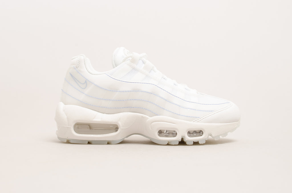 cb06a1fb6e Sevensneakerstore.com Nike Women's Air Max 95 SE ( Summit White / Blue )  918413 ...