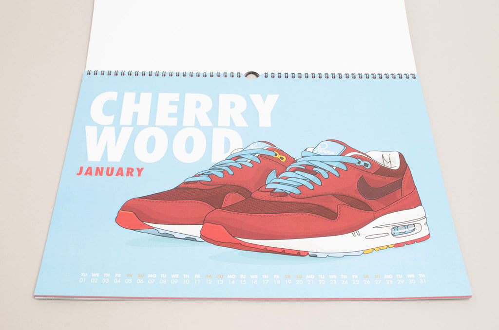 Von Schulz AM1 ( Nike Air Max 1 Parra Piet Patta Cherrywood) Monthly Calender 2019