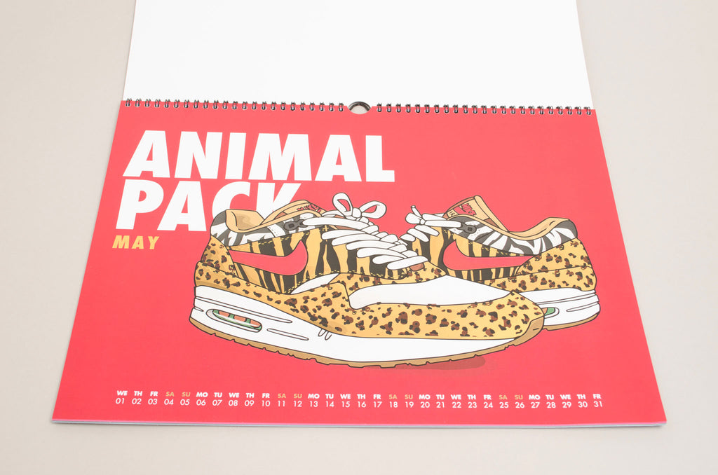 Von Schulz AM1 ( Nike Air Max 1 Animal Atmos ) Monthly Calender 2019