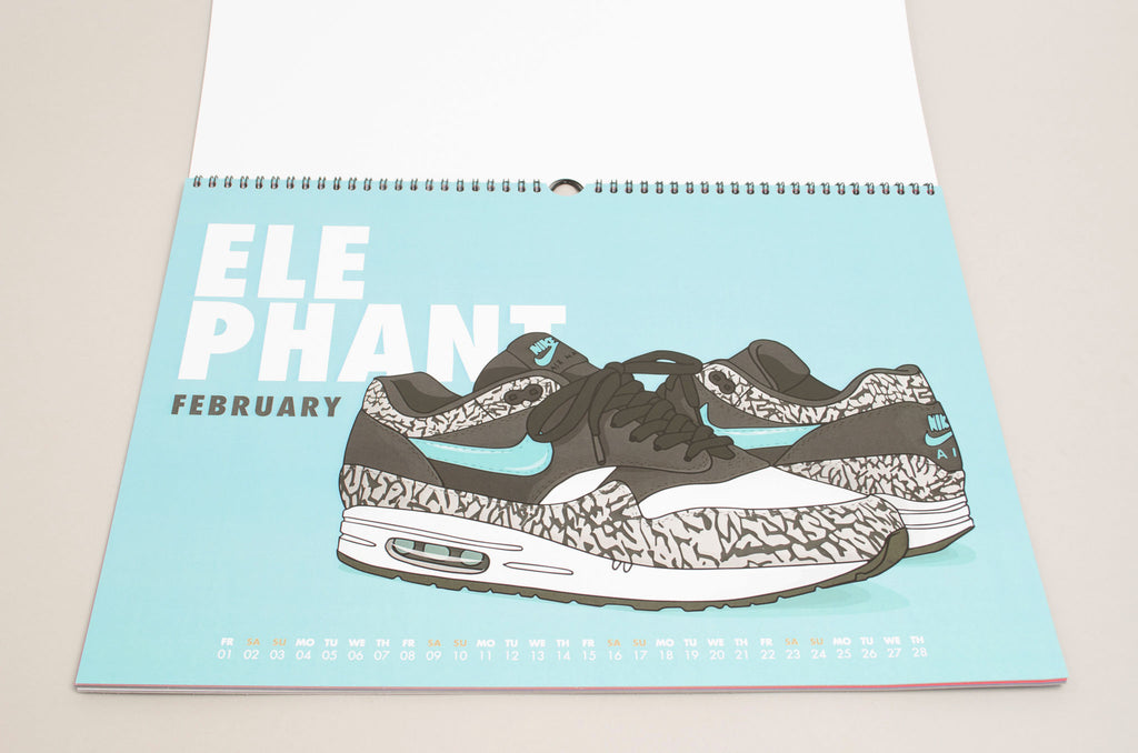 Von Schulz AM1 ( Nike Air Max 1 Elephant Atmos) Monthly Calender 2019