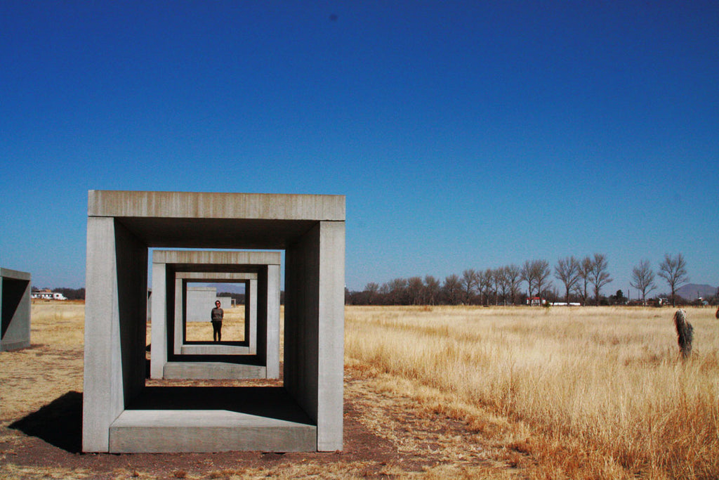 Art by Donald Judd. Marfa, Texas