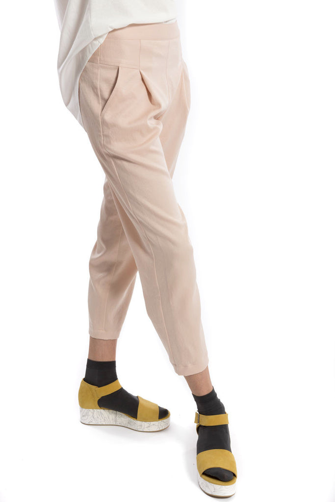 Ankle Straight Trouser Blush
