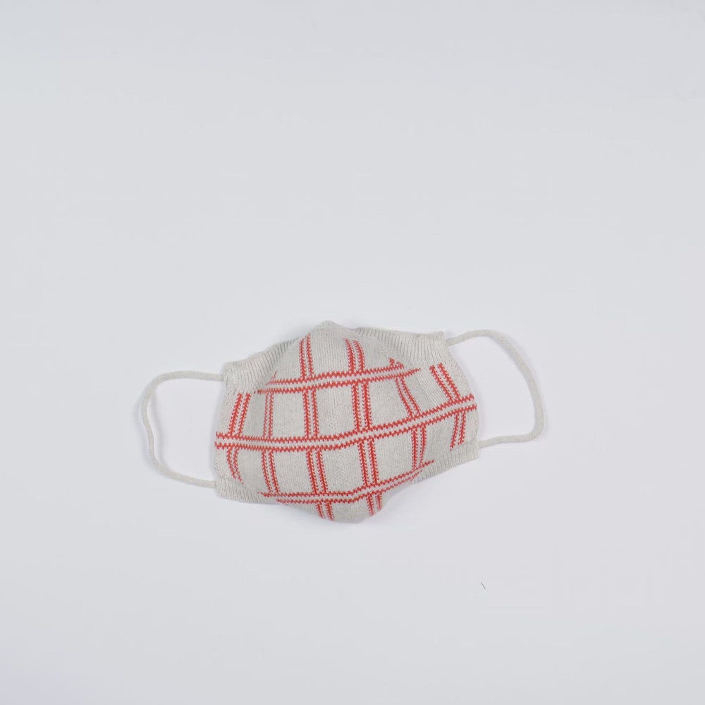 Load and play video in Gallery viewer, Coral Plaid Full Fashioned Knitted Mask