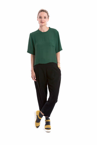 Pocket Bi-Level Top Kelly Green