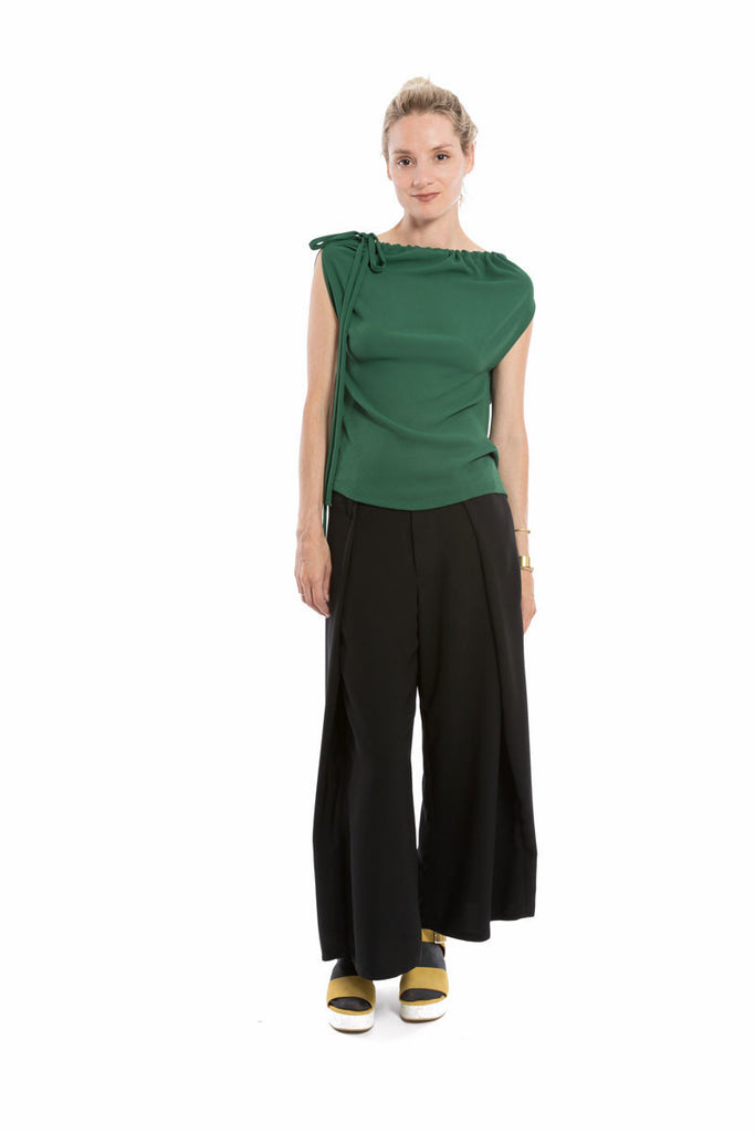 Drawstring Top Kelly Green