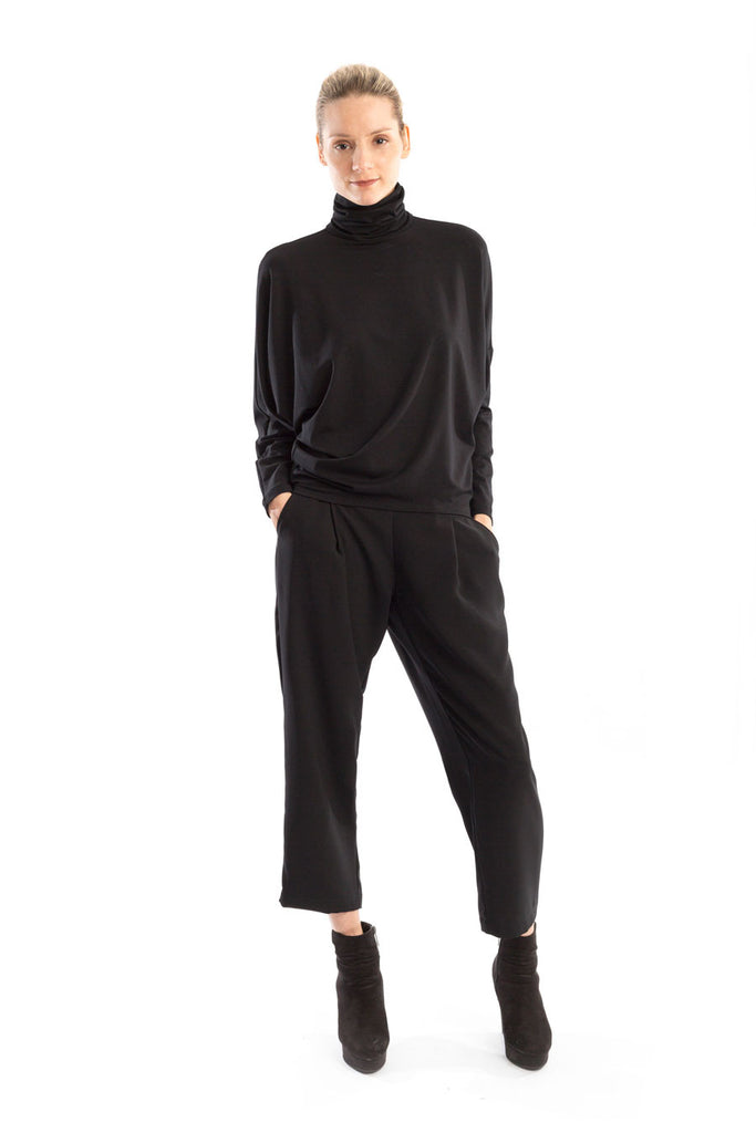 Turtleneck Top Black