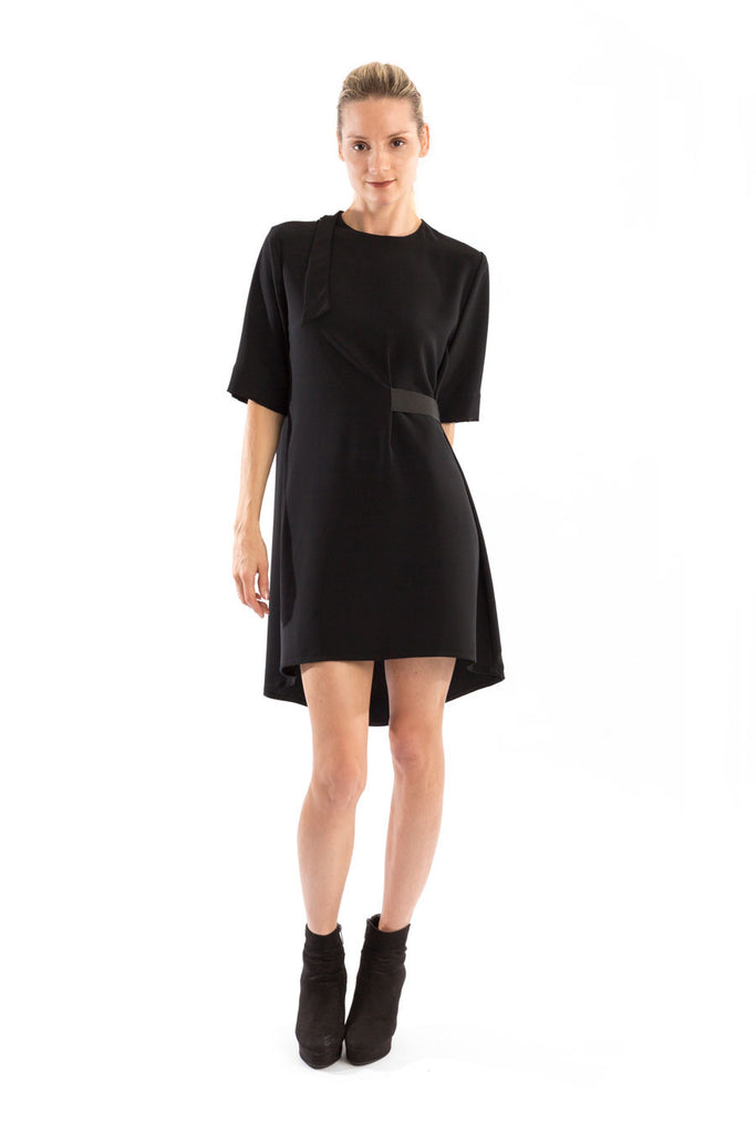 Tunic A-Line Dress in Black