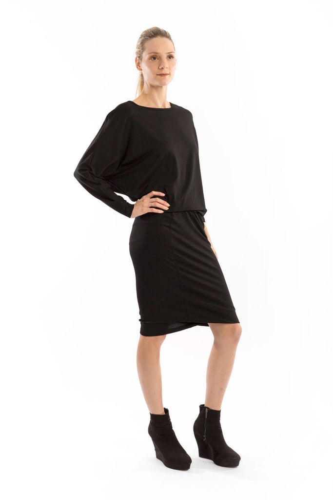 Blouson Knit Dress
