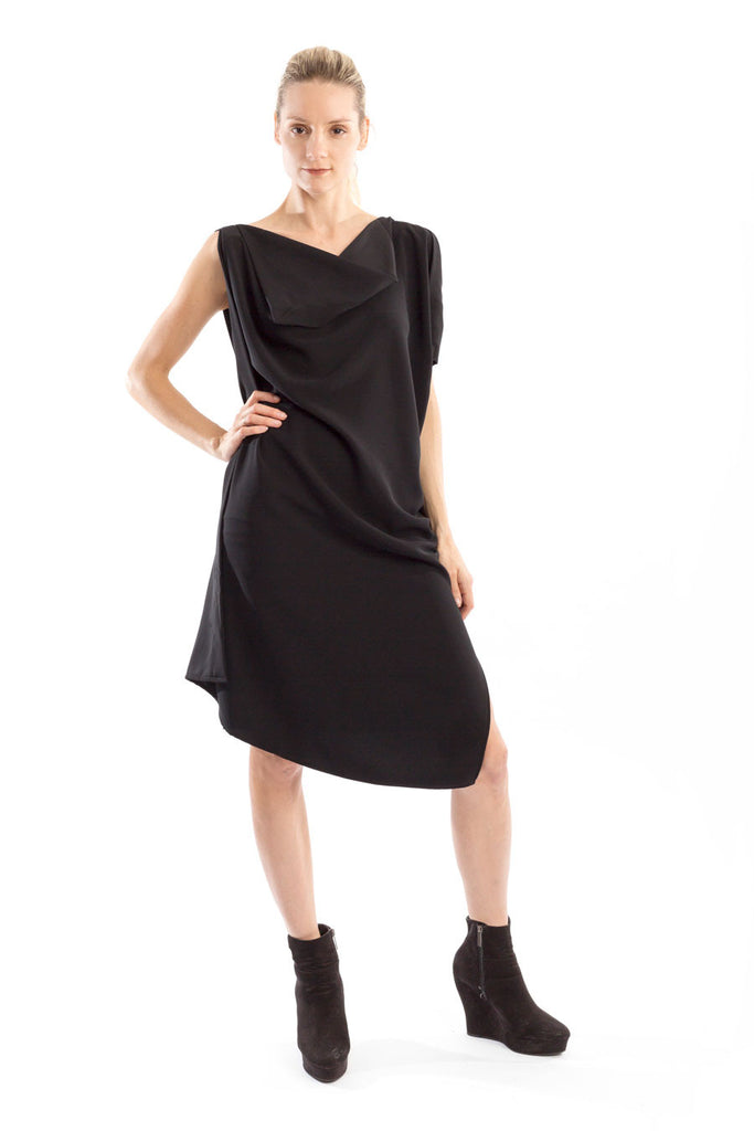 Drape Dress with asymmetrical details