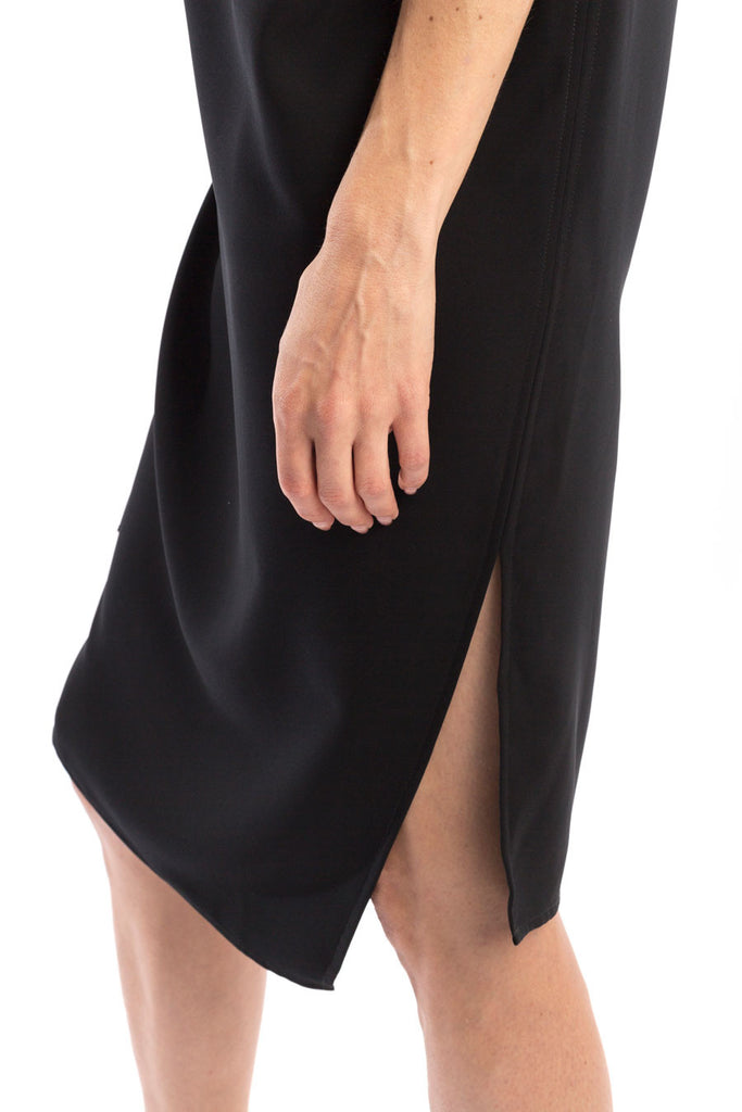 Drape Dress side slit