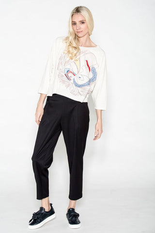 Cropped Cuff Soft Trouser