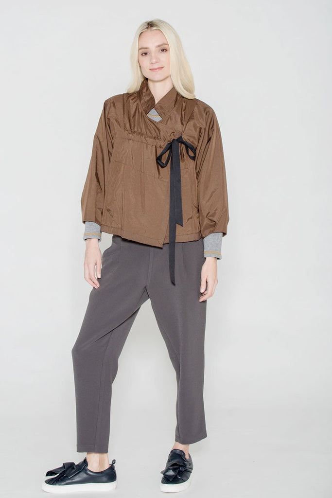 Drawstring Jacket Bronze
