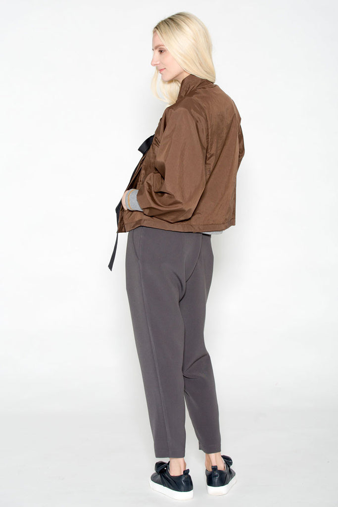 Ankle Zip Trouser Gunmetal