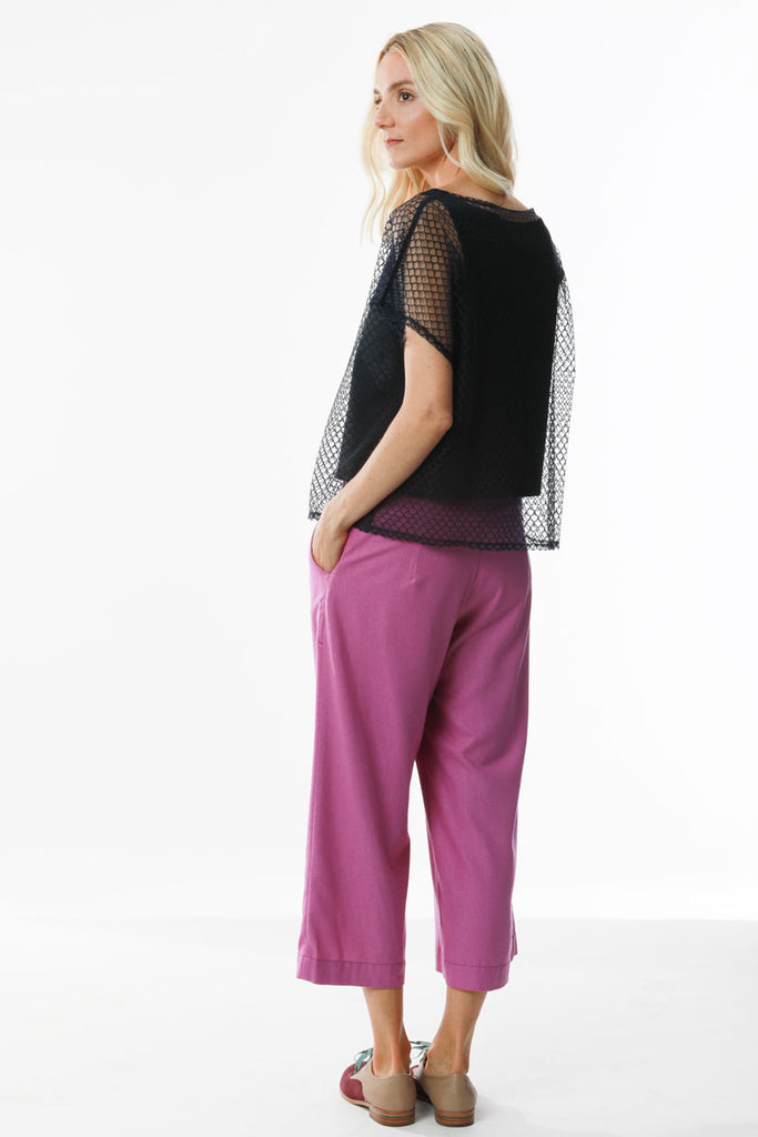 Double Layered Top Mesh Knit Combo