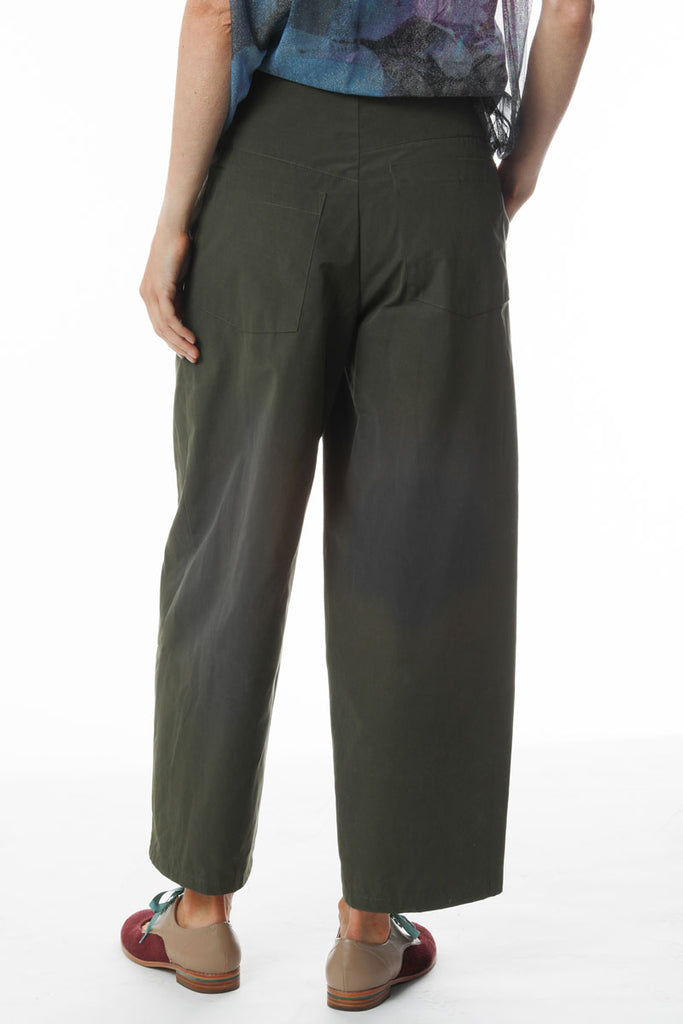 High Waisted Pants Olive Canvas