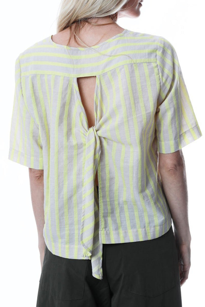 Ruffle Top Lemon Stripe