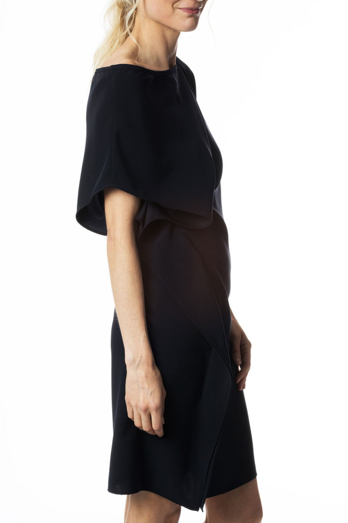 Dropped Shoulder Dress Navy