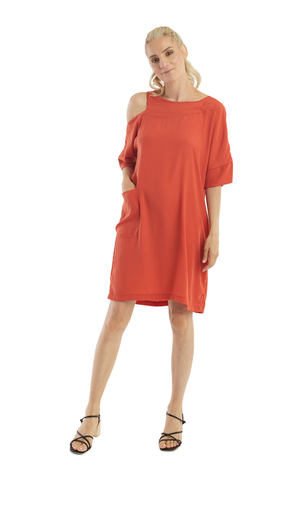 Persimmon Off Shoulder Dress