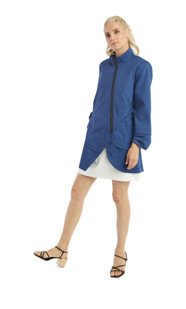 Azure Zip Long Jacket